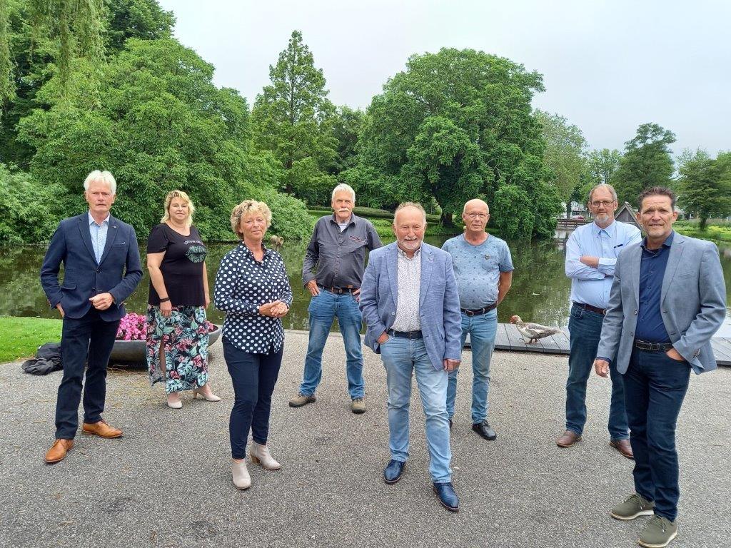 Foto van de fractie van Gemeentebelangen Waadhoeke